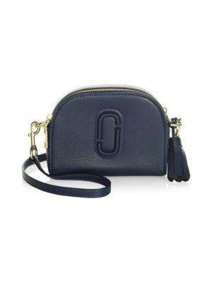 marc jacobs female 188971 shutter leather crossbody bag