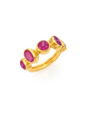 Amulet Hue Ruby & 24K Yellow Gold Ring