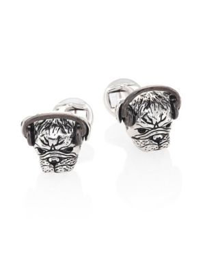 Headphones Plugged Pug Cufflinks