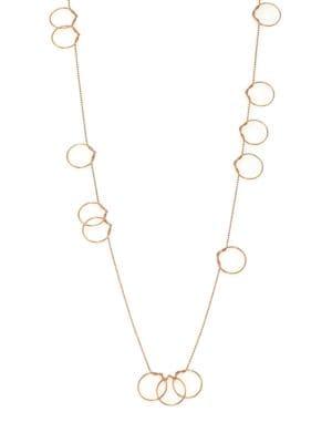 Thirteen Circle 18K Rose Gold Necklace