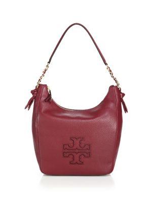 tory burch female 188971 harper leather zip hobo bag