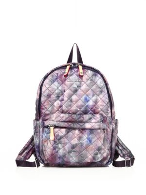 mz wallace female 45898 small metro pixelprint quilted nylon backpack
