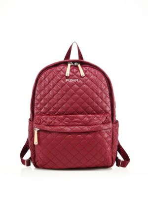 mz wallace female 127214 oxford medium metro quilted nylon backpack