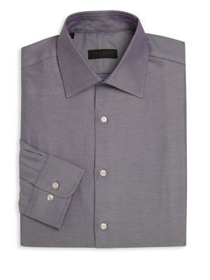Regular-Fit Pinstriped Dress Shirt