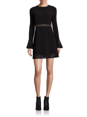 Sonoma Laser-Cut Fit & Flare Dress