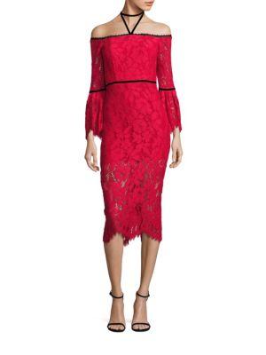 Odette Off-The-Shoulder Lace Dress