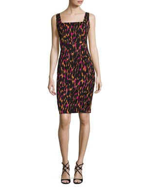 Bewitching Leopard-Print Sheath Dress