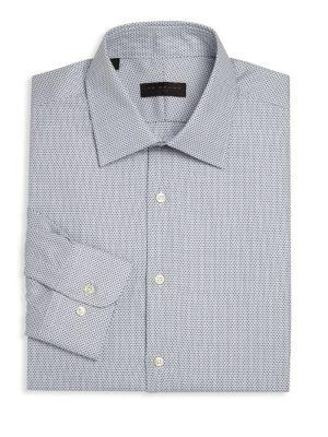 Geometric Regular Fit Dress Shirt