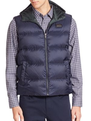 michael kors male hooded down vest