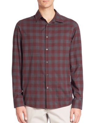 michael kors male enzo slimfit checkered shirt