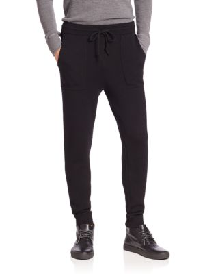 michael kors male merino wool double knit pants