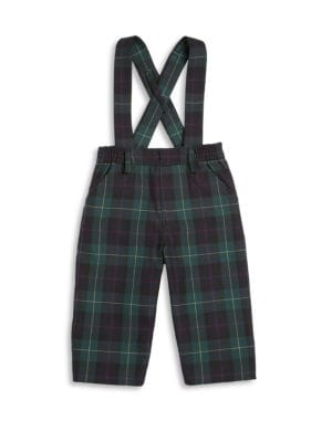 Baby's Plaid Suspender Pants