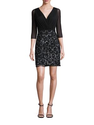 Rochie scurtă LAUNDRY BY SHELLI SEGAL Shirred