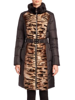 Mink Fur & Quilted Puffer Coat