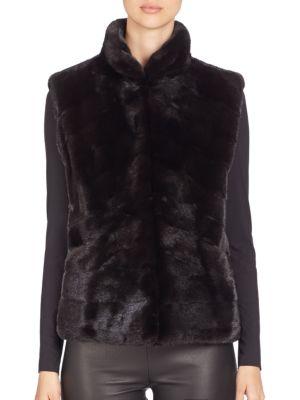 Quilted Mink Fur Vest