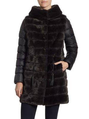 Mink Fur Puffer Coat