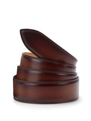 Carmel Brulee Patina Leather Belt