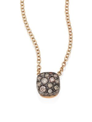 Nudo Brown Diamond & 18K Rose Gold Pendant Necklace