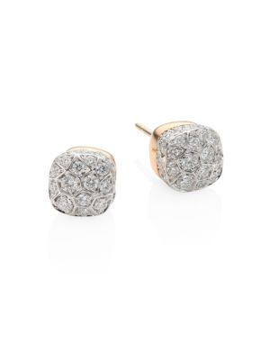 Nudo Diamond & 18K Rose Gold Stud Earrings