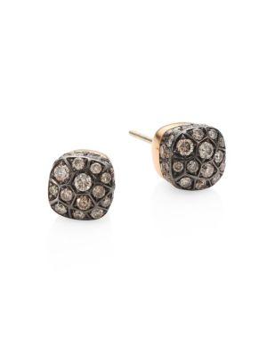 Nudo Brown Diamond & 18K Rose Gold Stud Earrings