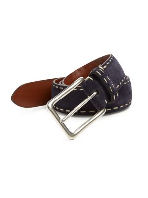 COLLECTION Contrast Stitched Suede Belt