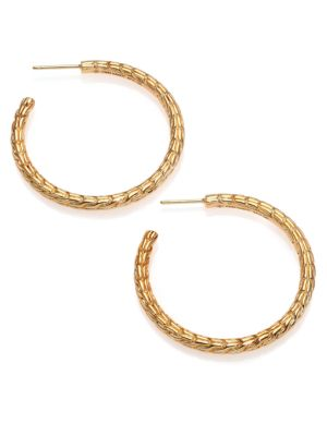 Classic Chain Medium 18K Yellow Gold Hoop Earrings