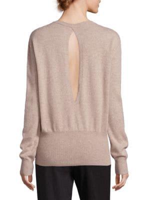 Cashmere Cutout Back Sweater