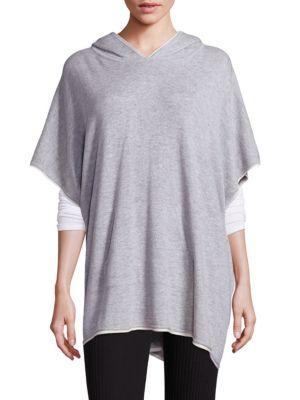splendid female 45906 solid hooded poncho