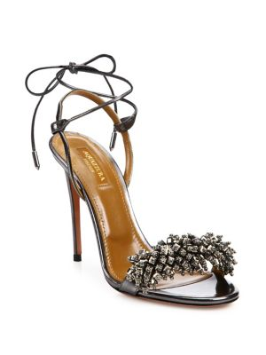 Monaco Crystal & Leather Sandals
