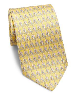 Swan Printed Silk Tie