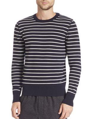 Striped Crewneck Wool Sweater