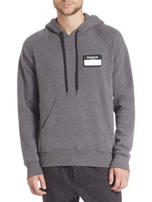 Bonjour Patch Hooded Sweatshirt