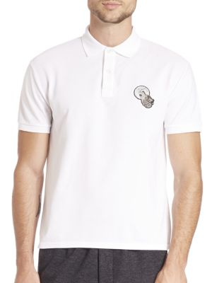 Short Sleeve Wolf Embroidery Polo Shirt