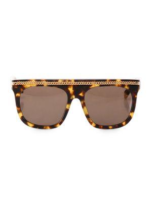 Chain-Trim 55MM Square Sunglasses