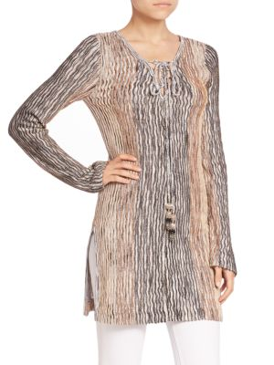 Maviale Metallic Tunic Sweater by Calypso St. Barth