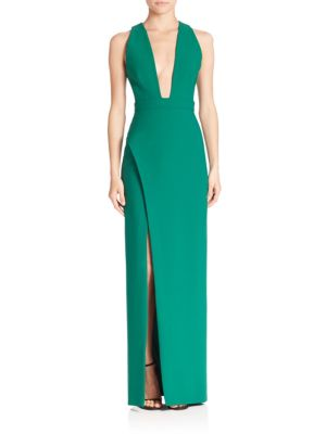 Phoenix Deep V-Neck Gown
