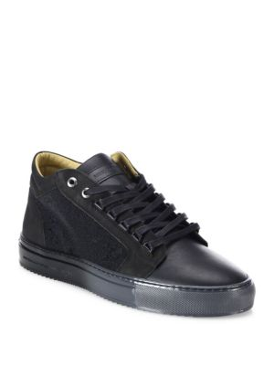 Margom Nubuck Caviar Mid-Top Sneakers
