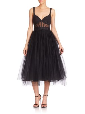 Evangeline Tulle Midi Dress