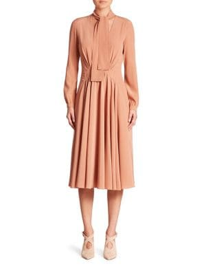 Front-Tie Low V-Neck Dress