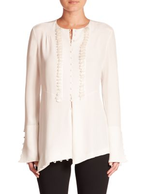 Long Sleeve Silk Blouse by Derek Lam