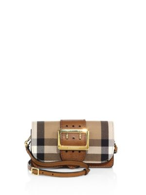 Oversized Buckle Accented Mini Crossbody Bag