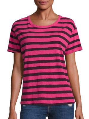 Cotton Painted Stripe Tee