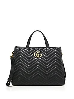 Gucci - GG 2.0 Marmont Matelassé Leather Top-Handle Tote