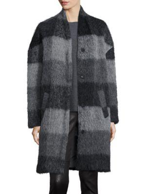 Check Cocoon Coat