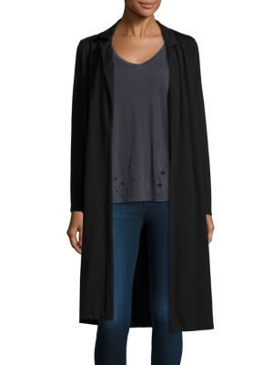 French Terry Long Coat plus size,  plus size fashion plus size appare