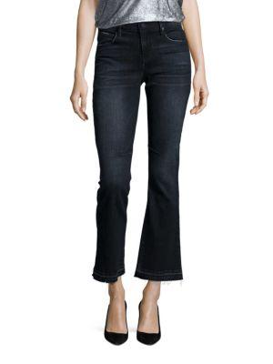 Kiki Flared Leg Cropped Jeans by RtA