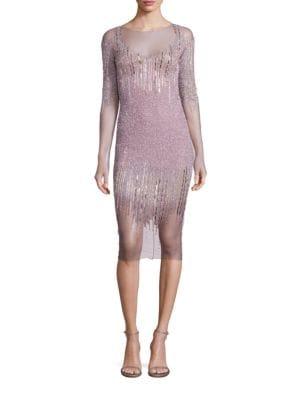 Sequin & Crystal Embellished Dress