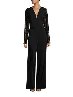 Long Sleeve Embellished Jumpsuit