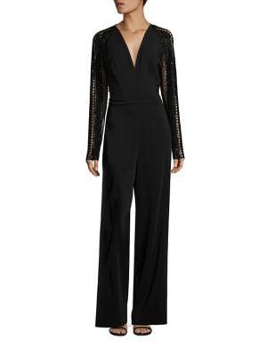 Long Sleeve Embellished Jumpsuit
