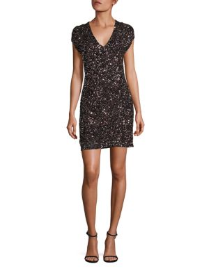 Serena Sequin Silk Dress